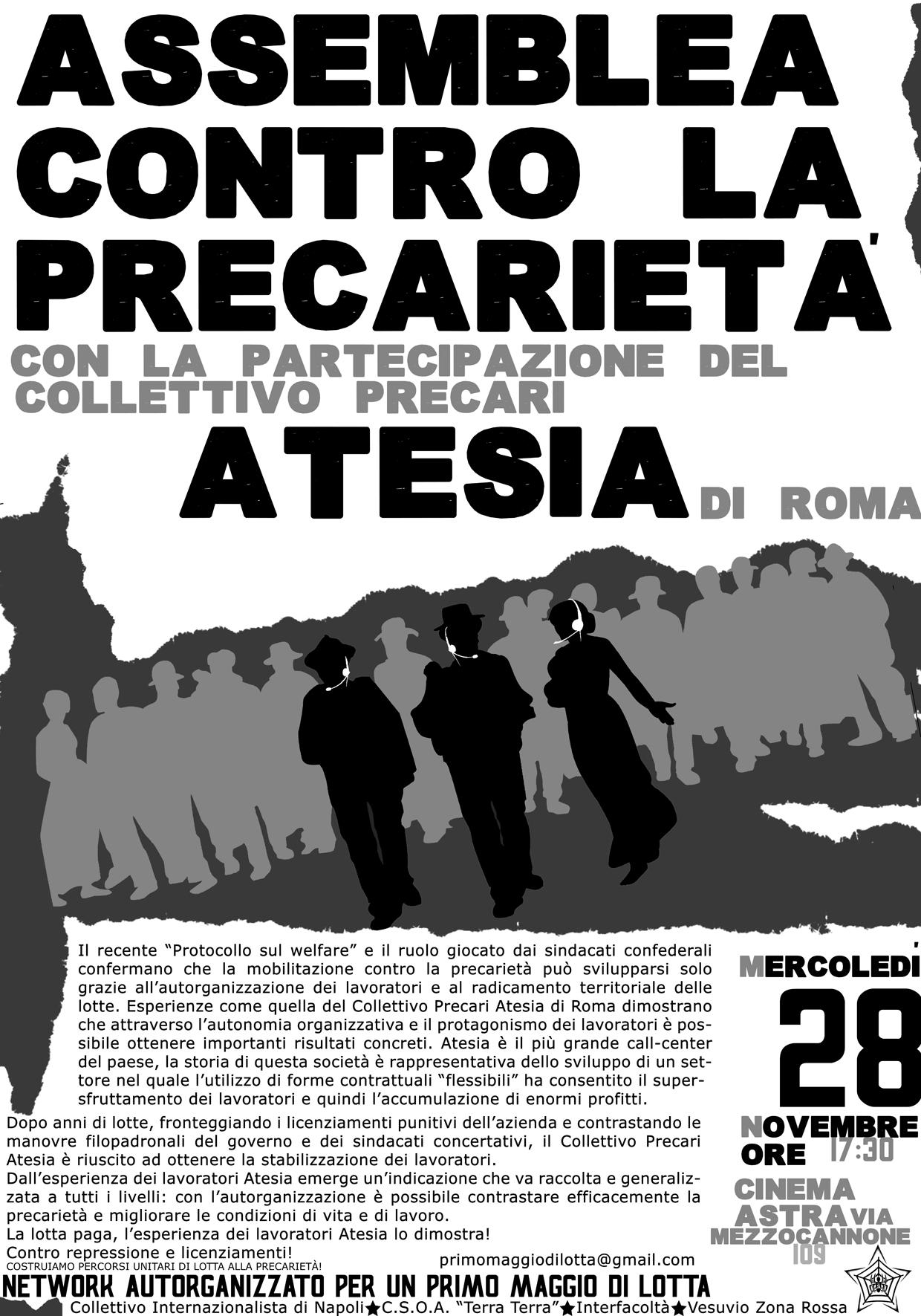 Manifesto Assemblea con PrecariAtesia